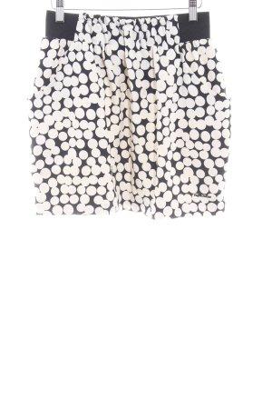 Pepe Jeans London Minifalda negro-crema estampado a lunares look casual