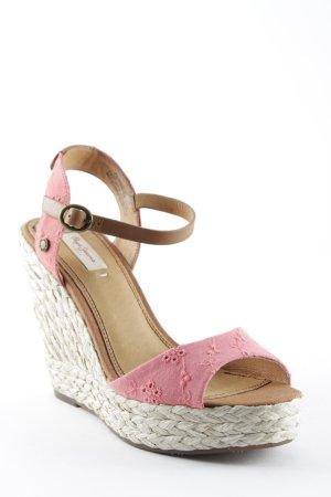 Pepe Jeans London Sandales à talons hauts et plateforme motif floral style Boho