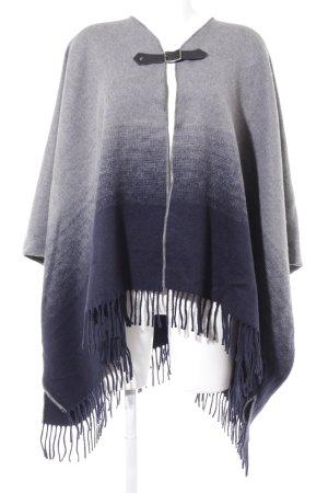 Pepe Jeans London Poncho grijs-donkerblauw kleurverloop casual uitstraling