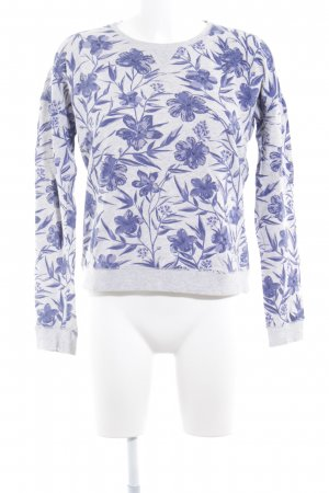 Pepe Jeans London Rundhalspullover hellgrau-grauviolett florales Muster