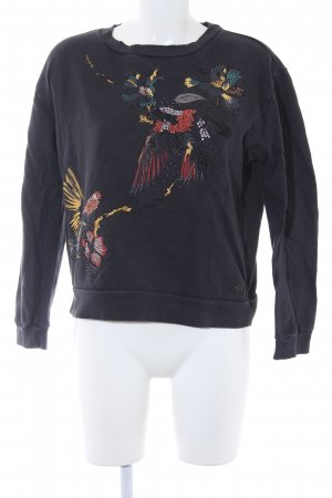 Pepe Jeans London Rundhalspullover schwarz Animalmuster Animal-Look