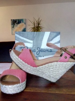 Pepe Jeans London Sandalen mit Keilabsatz Gr. 40