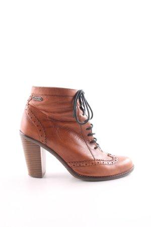 Pepe Jeans London Patucos con cordones marrón estilo «business»
