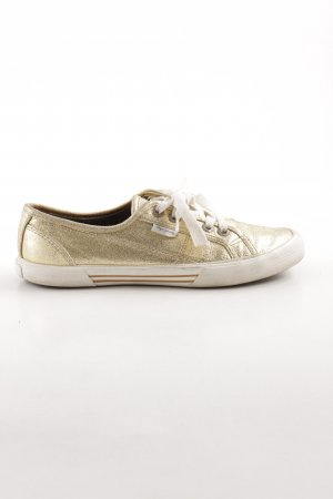 Pepe Jeans London Lace Shoes gold-colored-natural white casual look