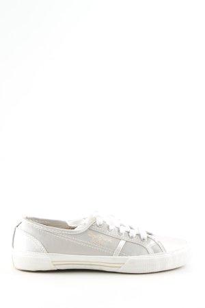 Pepe Jeans London Zapatilla brogue color plata-blanco look casual