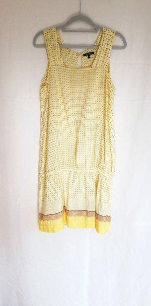 Pepe Jeans London seidig gelbes Sommerkleid