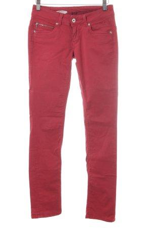 Pepe Jeans London Skinny jeans donkerrood Britse uitstraling