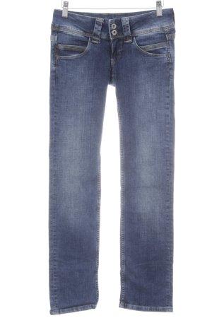 Pepe Jeans London Slim Jeans blau Washed-Optik