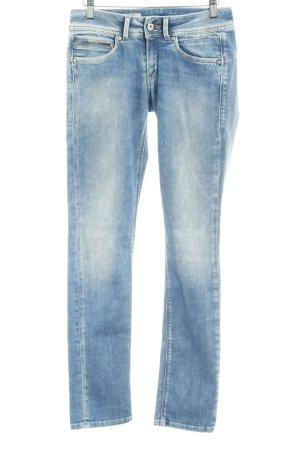 Pepe Jeans London Slim Jeans hellblau Street-Fashion-Look