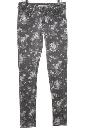 Pepe Jeans London Slim Jeans hellgrau-weiß Allover-Druck Casual-Look