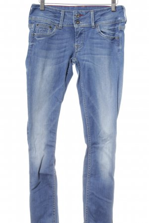 Pepe Jeans London Slim Jeans stahlblau Washed-Optik