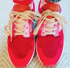 Pepe Jeans London Sneaker Sneakers rot pink metallic gold 41