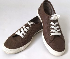 "* Pepe Jeans London *Sneakers ""Aberlady Python"" Schuhe Turnschuhe Schuhe 39 braun weiß sommer"