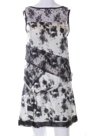 Pepe Jeans London Spitzenkleid weiß-schwarz Allover-Druck Elegant