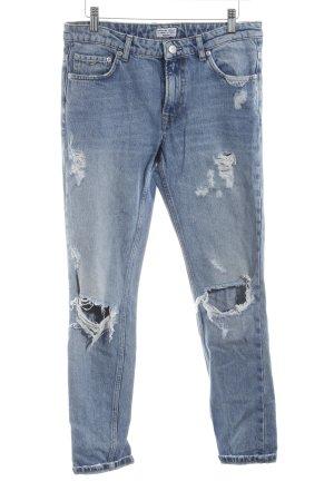 Pepe Jeans London Straight-Leg Jeans blau Boyfriend-Look