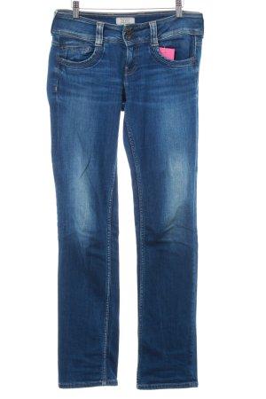 Pepe Jeans London Straight-Leg Jeans blau Used-Optik
