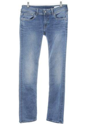 Pepe Jeans London Straight-Leg Jeans blau Washed-Optik