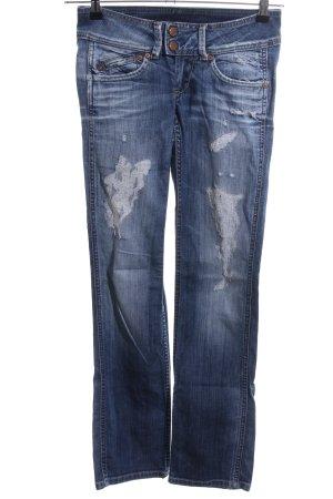 Pepe Jeans London Straight-Leg Jeans blau Business-Look