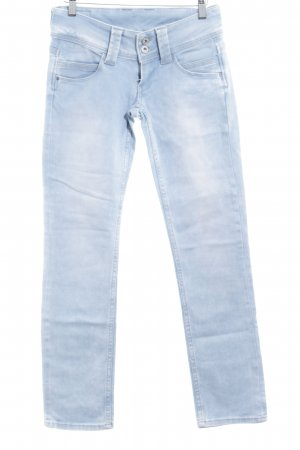 Pepe Jeans London Straight-Leg Jeans himmelblau-weiß Casual-Look