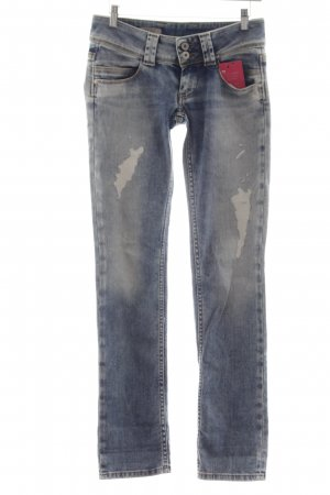 Pepe Jeans London Straight-Leg Jeans kornblumenblau Casual-Look