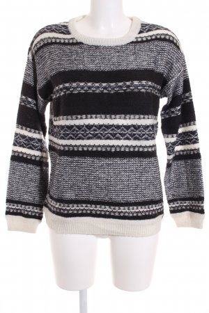 Pepe Jeans London Strickpullover dunkelblau-wollweiß Streifenmuster Casual-Look