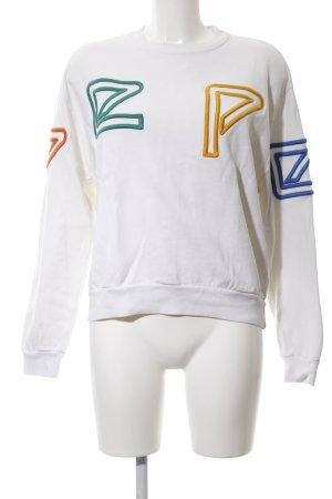 Pepe Jeans London Sweatshirt weiß Schriftzug gestickt Casual-Look
