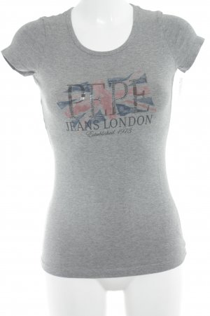 Pepe Jeans London T-Shirt grau meliert Casual-Look
