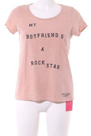 Pepe Jeans London T-Shirt pink-schwarz meliert Casual-Look