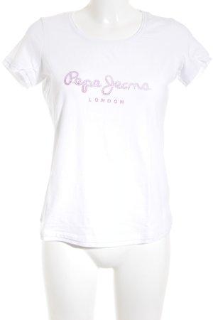 Pepe Jeans London T-Shirt Schriftzug gedruckt minimalistischer Stil