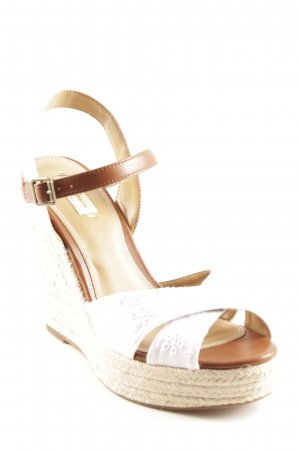 Pepe Jeans London Wedge Sandals white-brown casual look