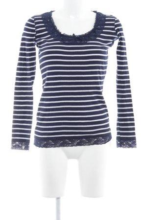 Pepe Jeans Longsleeve dunkelblau-weiß Streifenmuster Casual-Look