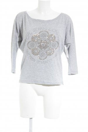 Pepe Jeans Longsleeve grau grafisches Muster Casual-Look