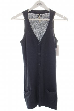Pepe Jeans Long Knitted Vest petrol casual look