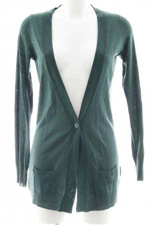 Pepe Jeans Gilet long tricoté vert forêt motif tricoté lâche