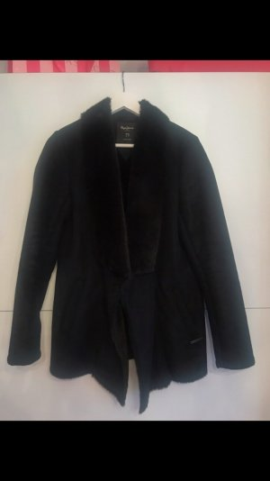 Pepe Jeans Mantel mit Fell schwarz