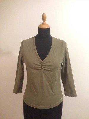 Pepe Jeans Marke Designer cool Basic Shirt Jersey Stretch Deep V Raffung 3/4