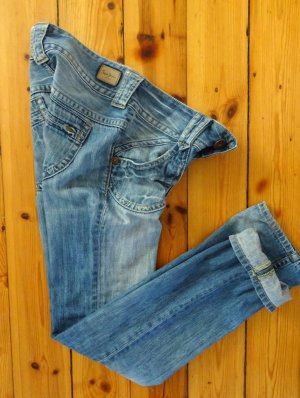 Pepe Jeans Straight Leg Jeans blue cotton