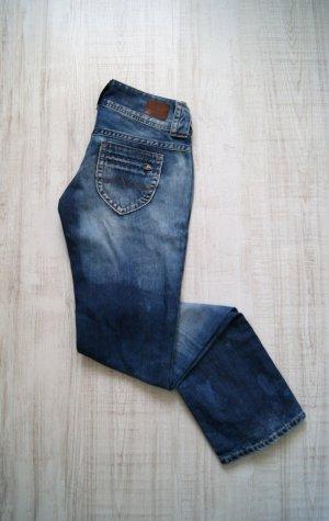Pepe Jeans London Jeans met rechte pijpen staalblauw-blauw