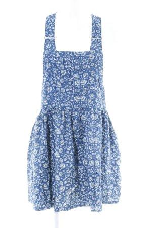 Pepe Jeans Minikleid dunkelblau-weiß florales Muster Casual-Look