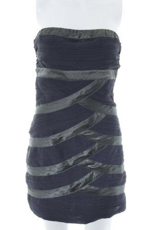 Pepe Jeans Minikleid schwarz-grüngrau Streifenmuster Elegant