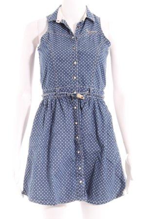 Pepe Jeans Minikleid stahlblau Sternenmuster Elegant