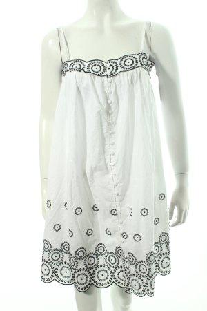 Pepe Jeans Minikleid weiß-schwarz Beach-Look