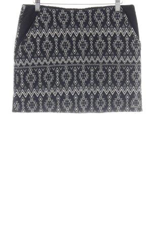 Pepe Jeans Mini-jupe noir-blanc cassé motif aztèque style décontracté