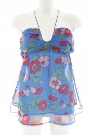Pepe Jeans Halter Top floral pattern Bead ornaments