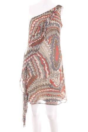 Pepe Jeans One-Shoulder-Kleid abstraktes Muster Casual-Look