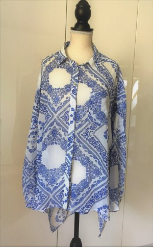 Pepe Jeans Long Blouse white-blue polyester