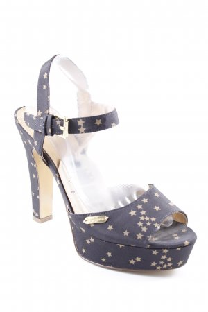 Pepe Jeans Peep Toe Pumps Sterrenpatroon casual uitstraling