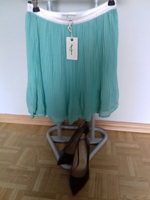 Pepe Jeans London Pleated Skirt turquoise polyacrylic