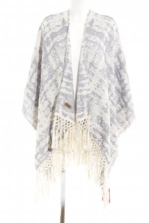 Pepe Jeans Poncho oatmeal-slate-gray abstract pattern casual look