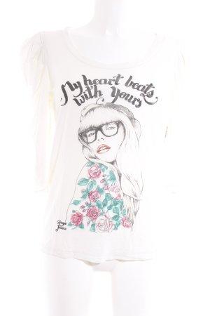Pepe Jeans Print-Shirt Motivdruck Casual-Look